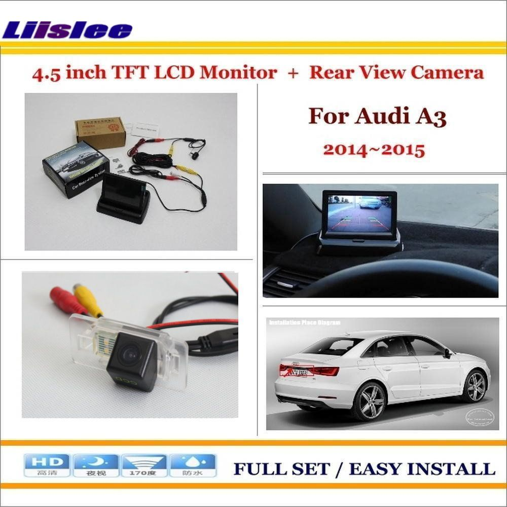 Liislee For Audi A3 2014~2015 - Car Reverse Backup Rear Camera + 4.3