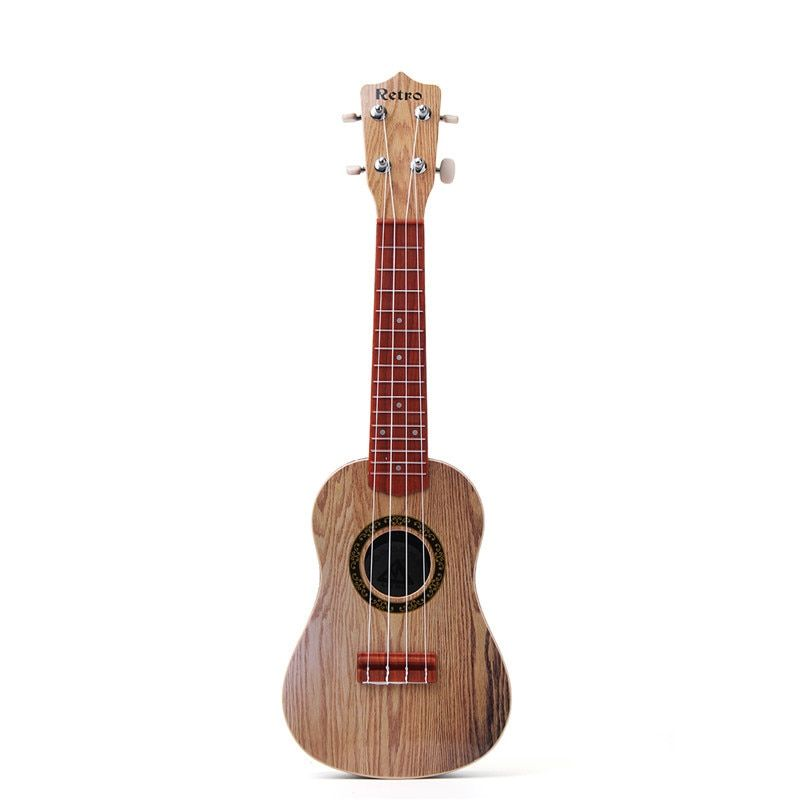 21 Inch 4 String Wood Guitar Ukulele Guitarra Musical Stringed Instrument Toy For Kids Children Play Educational Gift