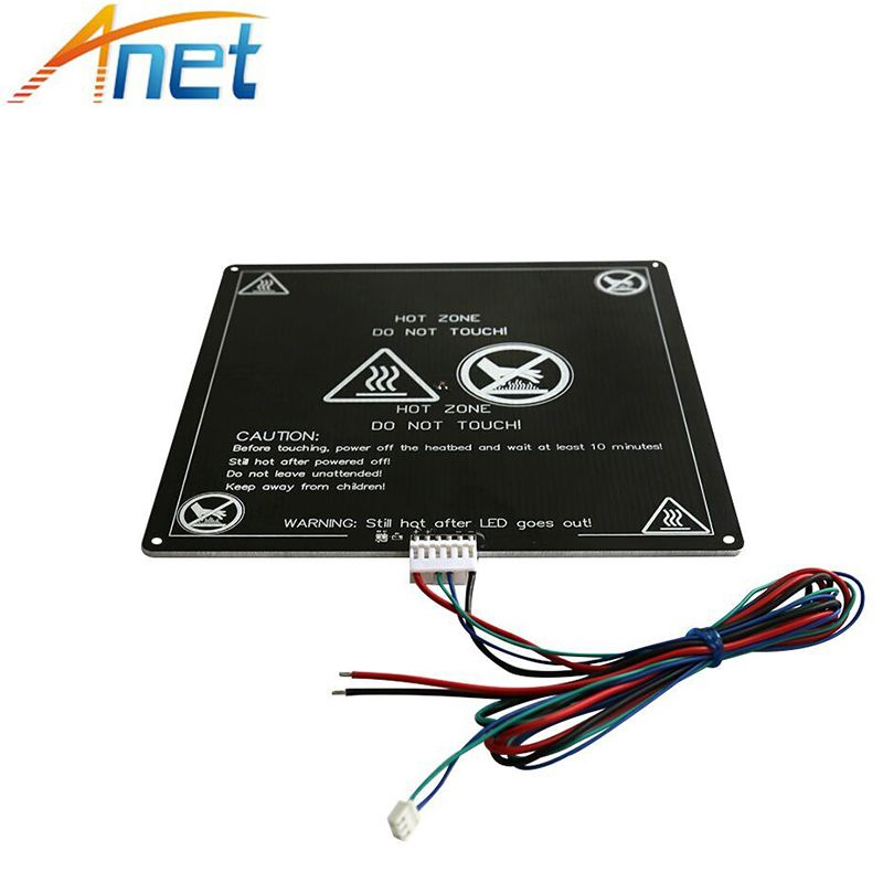 1Pc/lot Aluminum Heatbed MK2B MK2A Heat Bed for Mendel RepRap 12V Hotbed for 3D Printer 220*220*3mm with Cable Free Shipping