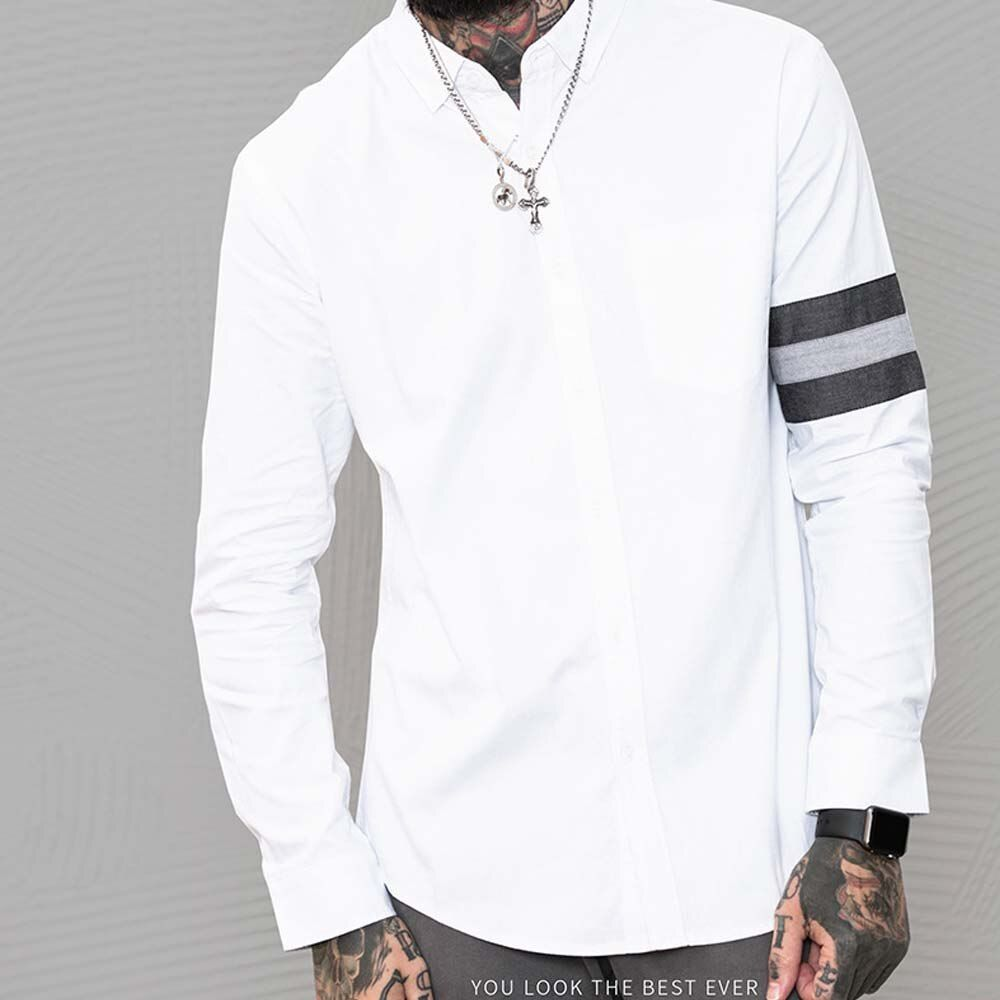 Men Clothes 2018 New Mens Long Sleeve Casual Shirt Cotton Shirt Men Washable Street style Casual Summer #C85052