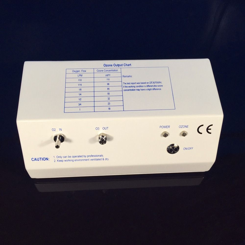 CE,EMC,ROHS approved TITANIUM electrode ozone therapy generator, medical ozone generator concentration up to 110ug/ml