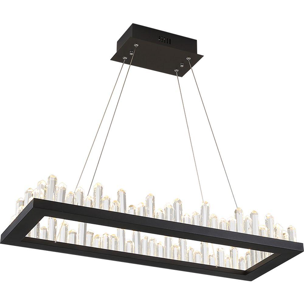 rectangle design modern LED chandeliers crystal lamp AC110V 220V lustre dinning room living room kronleuchter