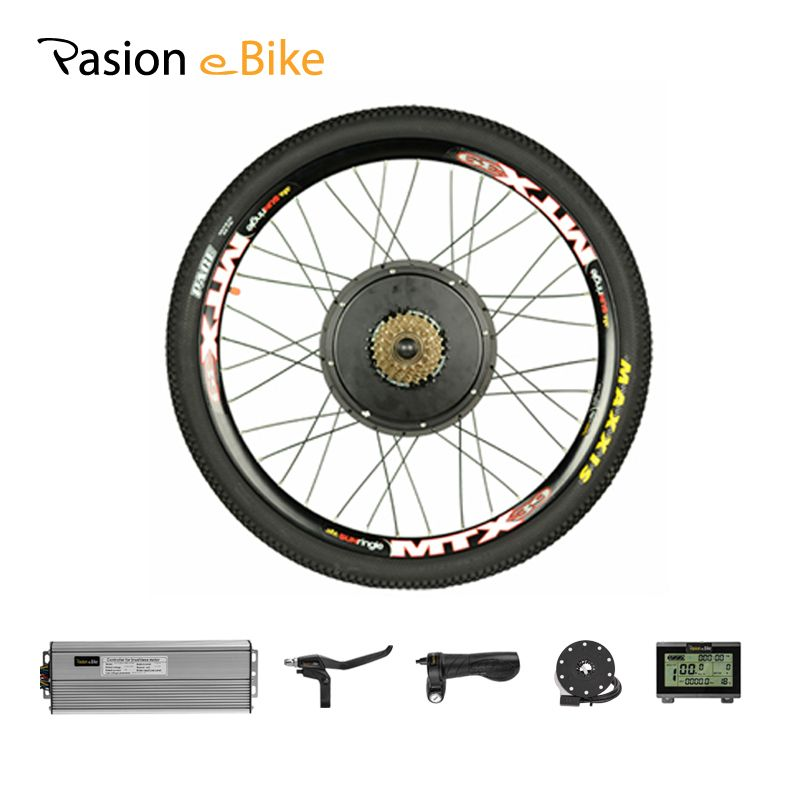 PASION E BIKE Set For Electric Bike 48V 1500W Powerful Electric Bike Conversion Kit Rear Wheel Motor Kit Mountain Bike Bicicleta