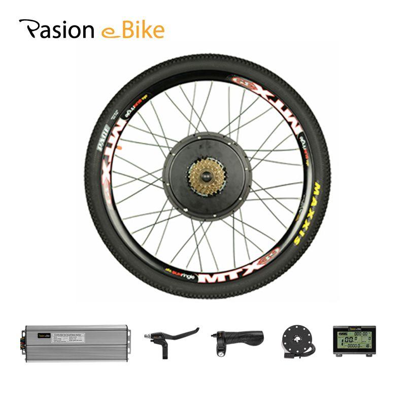 PASION E BIKE Set For Electric Bike 48V 1500W Powerful Electric Bike Conversion Kit Rear Wheel Motor Kit Mountain Bike Bicicleta