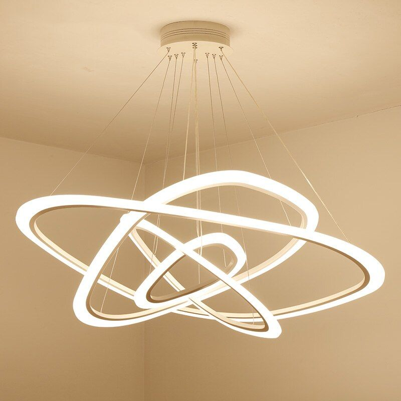 LED chandelier loft illumination nordic suspension luminaire home deco lighting fixtures living room lamps modern hanging lights