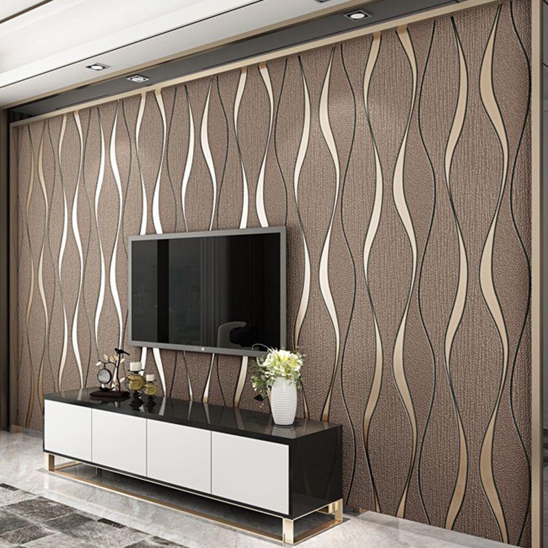 3D rayé Papier Peint pour murs rouleau salon TV fond mur décoration Papier mur papiers décor maison moderne Papier Peint