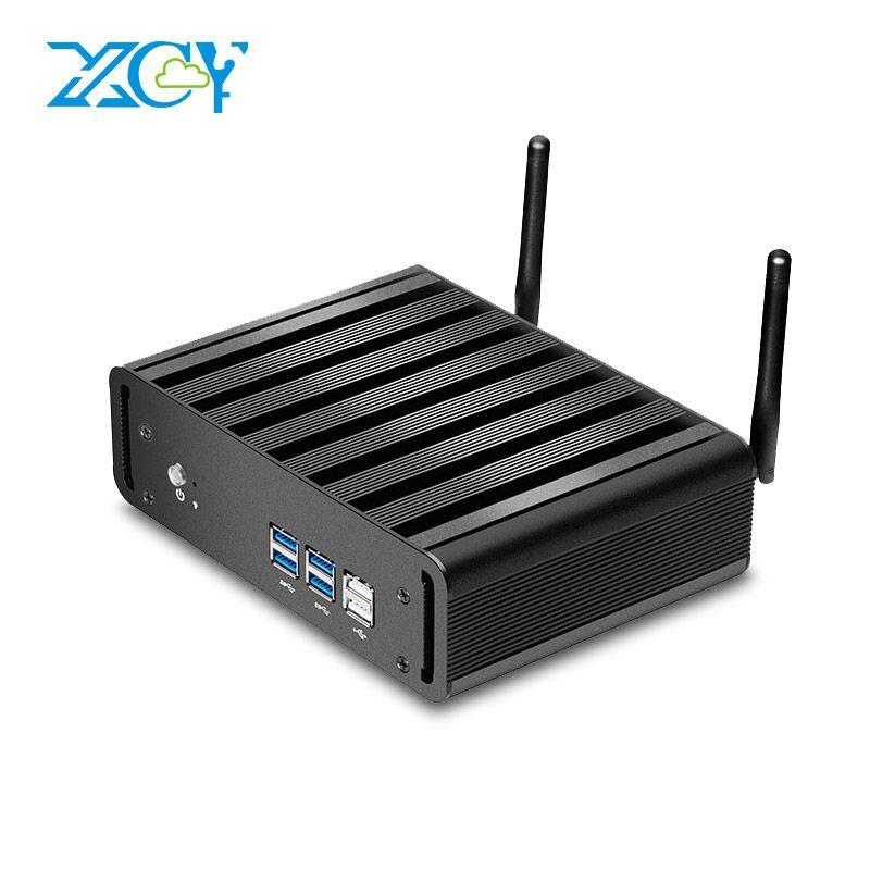 XCY Mini PC Core i3 4010U 5005U i5 4200U 5200U Mini Desktop Office Computer HTPC Windows 10 Linux HDMI WiFi Gigabit Ethernet