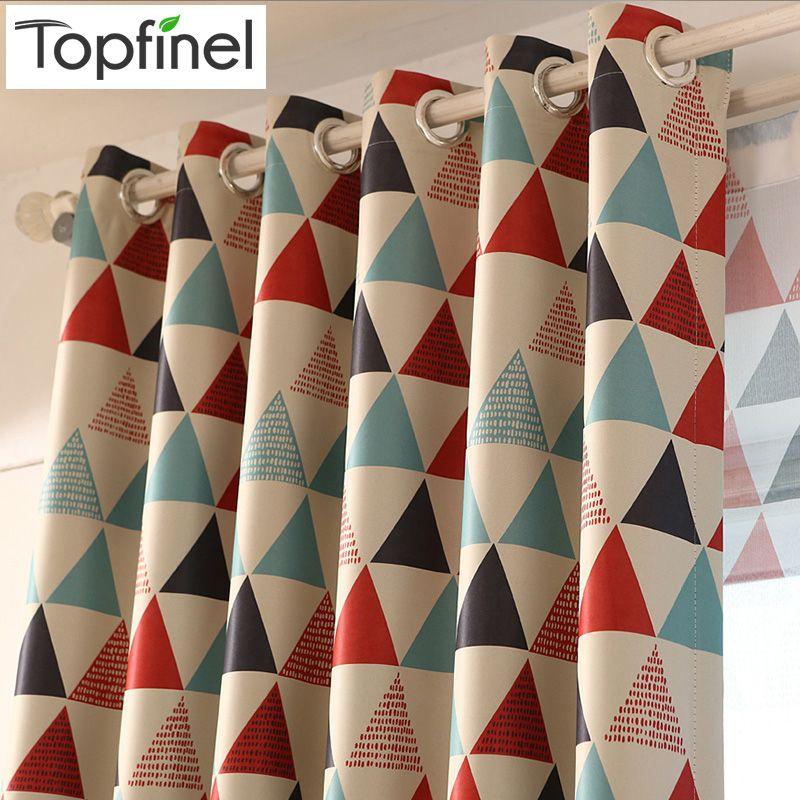 Topfinel moderne géométrique fenêtre traitements rideaux pour salon pour chambre lit rideaux occultants cuisine enfant chambre