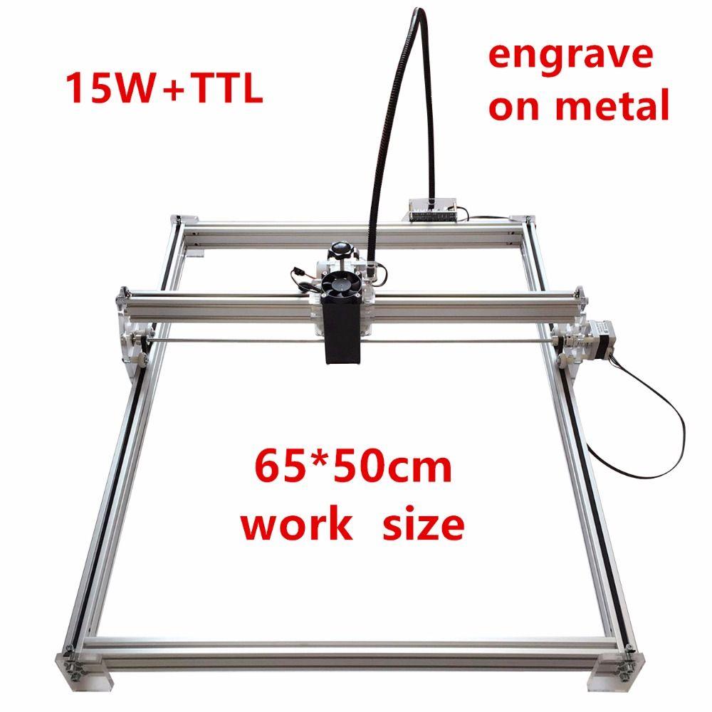 15 watt Mini desktop DIY Laser gravur stecher schneiden maschine Laser Radierer CNC druck bild von 50X65 cm mark logo auf hund tag