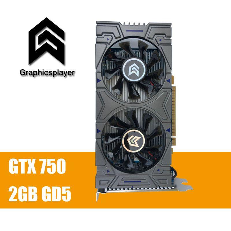 100% D'origine Carte Graphique GTX 750 2048 MB/2 GB 128bit GDDR5 Placa de Vidéo carte graphique Carte Vidéo pour NVIDIA Geforce PC VGA