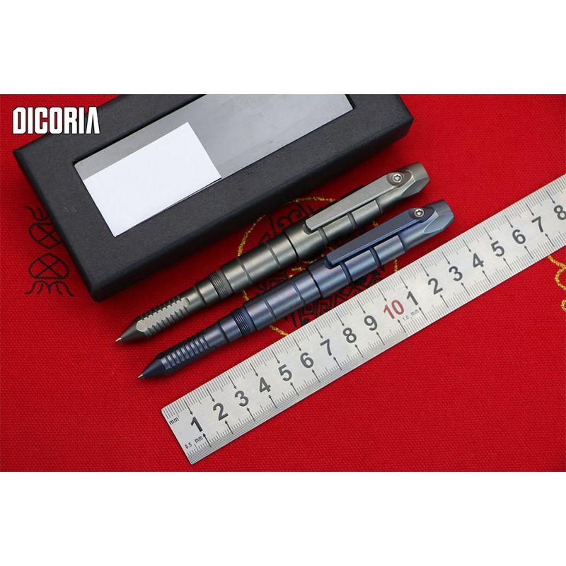 DICORIA Benutzerdefinierte Limited Edition Schraubendreher Titan Demontage Multifunktionales Überlebens Grün dorn F95 Tactical Pen EDC Werkzeug