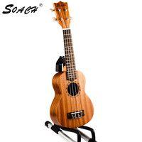 SOACH 21 pulgadas ukelele Soprano hecho a mano palisandro diapasón caoba cuerpo guitarra de 4 cuerdas para principiantes instrumento unisex