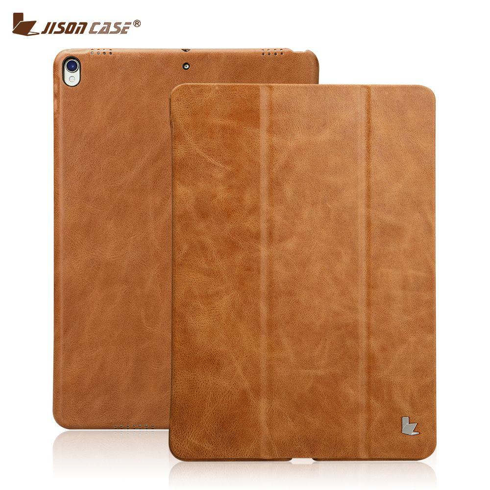 Jisoncase Leder Smart Cover für iPad Pro 10,5 2017 Fall Leder magnetische Rückseite Tablet Fall für Apple iPad Pro 10,5 zoll