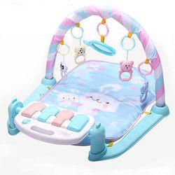 Bermain Mat Bayi Gym Mainan Game Karpet 0-12 Bulan Pencahayaan Lembut Mainan Musik Anak Mat Bayi Merangkak aktivitas Mat Mainan