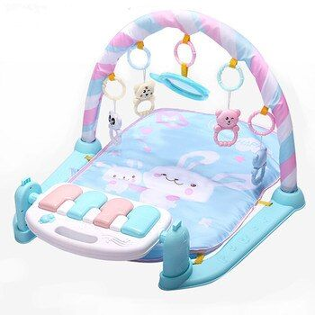 Play Mat Baby Gym Toys Gaming Carpet 0-12 Months Soft Lighting Rattles Children's Music Mat Infant Crawling Activity Mat Toys