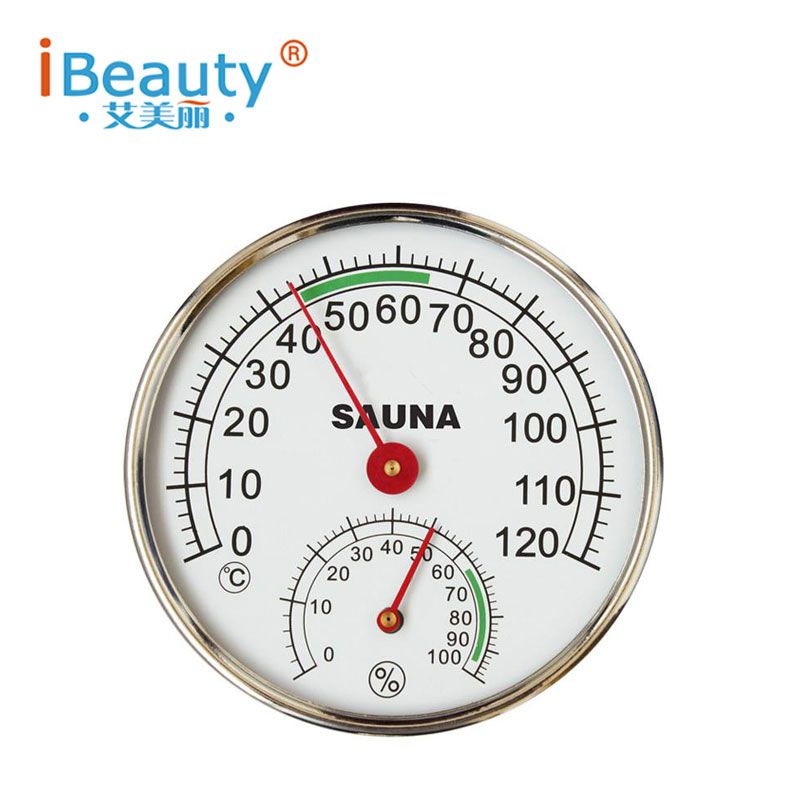 Sauna <font><b>Thermometer</b></font> Stainless Steel Case Steam Sauna Room <font><b>Thermometer</b></font> Hygrometer In the sauna room accessories for sauna