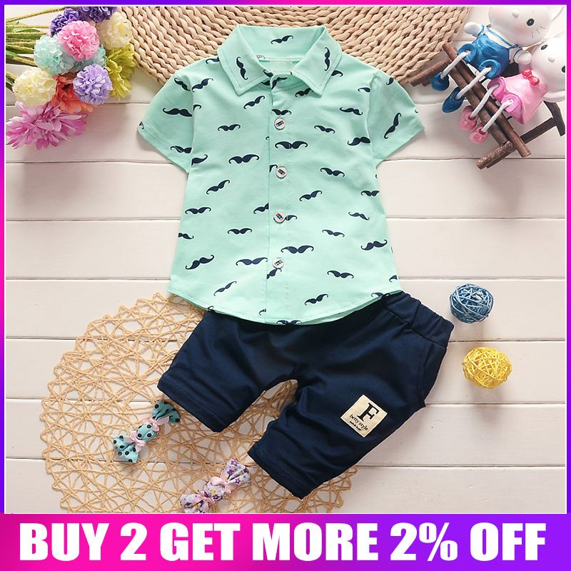 BibiCola bébé garçon vêtements ensembles Bebe mode t-shirt + pantalon solide ensemble été enfant tenue enfant en bas âge enfants coton survêtement vêtements