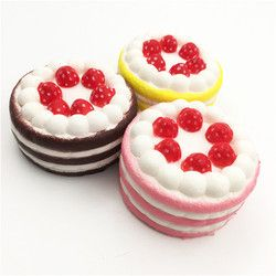 2019 New Mini Strawberry Cake Stress Reliever Squishy Decor Slow Rising Cream Scented Decompression Cure Toy antistress Toy