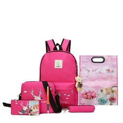 2018 New Teenager Big Capacity School Backpacks Canvas Cartoon Solid Bag Fashion Designer Backpacks Women High Quality