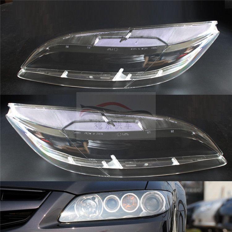 Anwendbar zu Mazda 6 03-07 Modell jahr scheinwerfer maske scheinwerfer gehäuse scheinwerfer glas scheinwerfer abdeckung 2 stücke