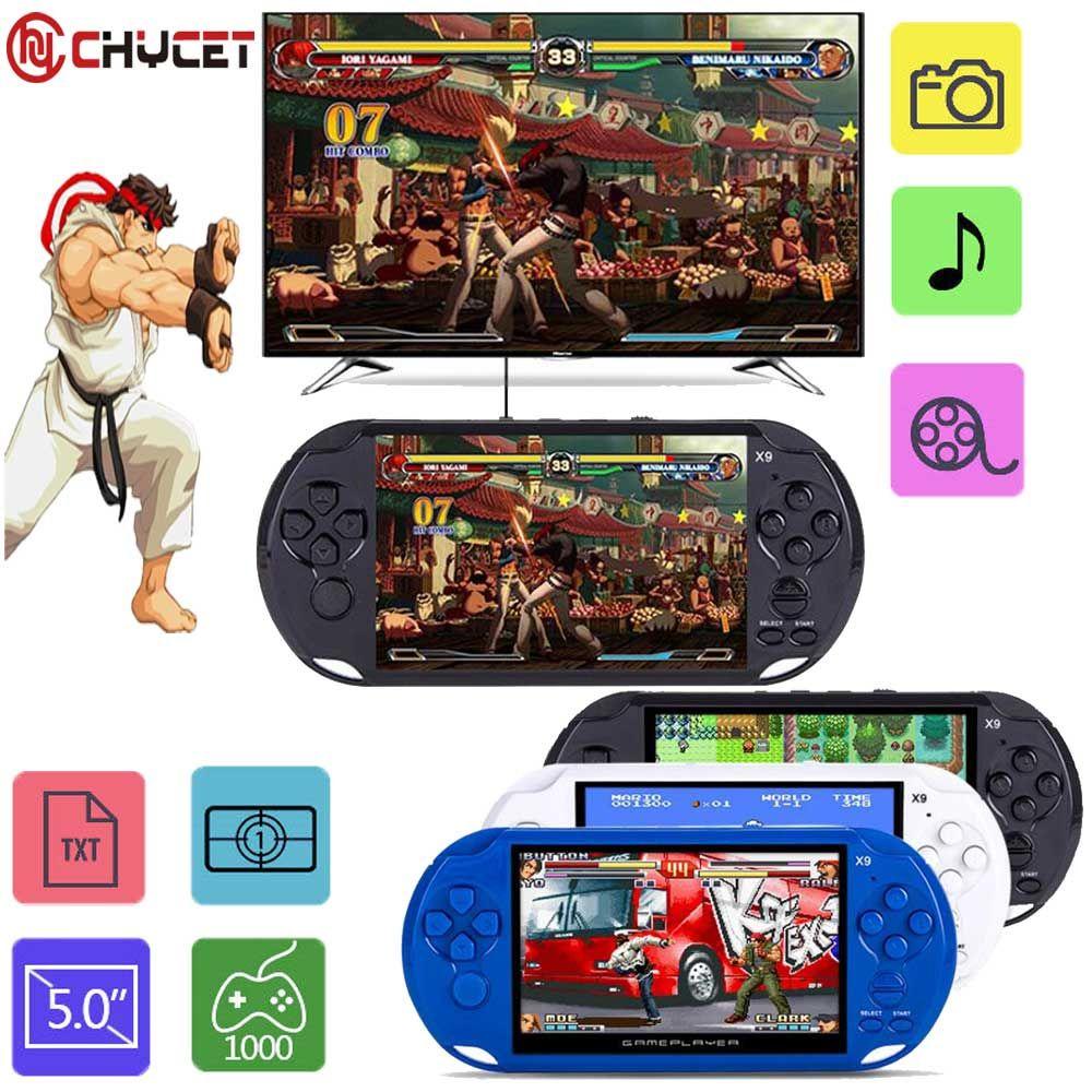 2018 Nouvelle Arrivée 5.0 Grand Écran De Poche Game Player Support TV Out Mettre Avec MP3/Film Multimédia Appareil Photo Vidéo jeu Console