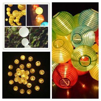 Muilt Couleur 20 LED Lanterne Boule Solaire Jeu de Lumières En Plein Air Lampe Solaire Fée Globe De Noël Décoratif Lumière pour la Fête de Vacances