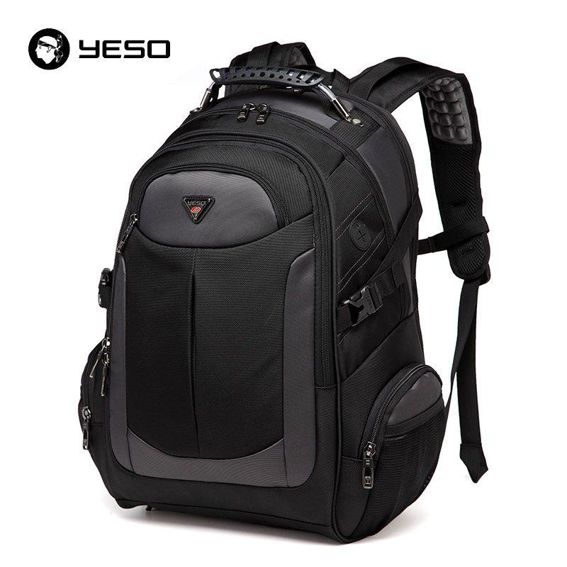 YESO Brand Laptop Backpack Men's Travel Bags 2017 Multifunction Rucksack Waterproof Oxford Black Computer Backpacks For Teenager