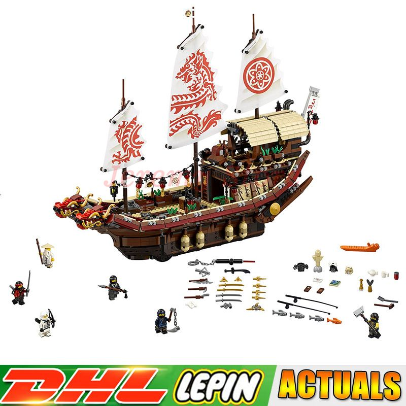 Ninja 06057 2455pcs Final Fight of Destiny's Bounty anime figures Building LEPIN Block Bricks Toys Compatible legoings 70618