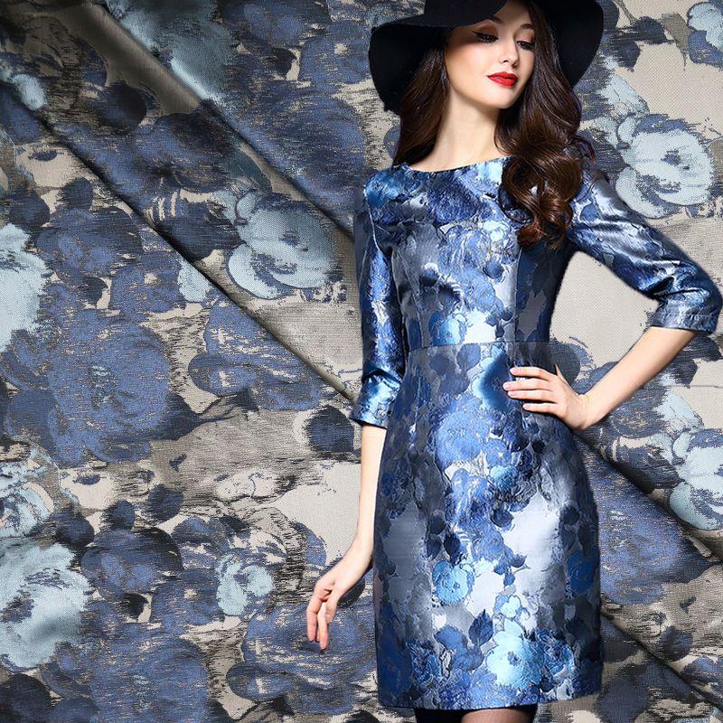 1Meter Floral Jacquard Brodace Fabric 65