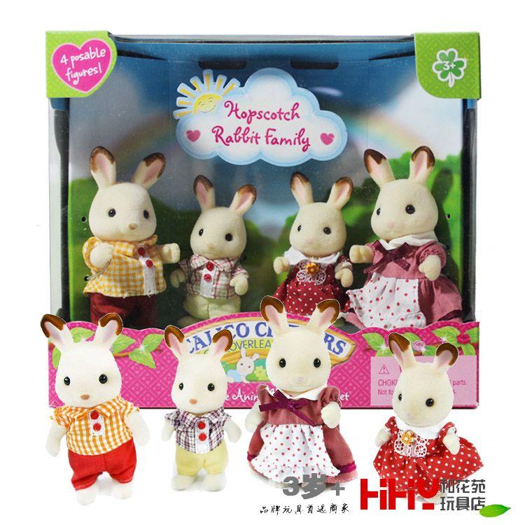 Hopscotch rabbit bunny Family mini size Sylvanian Family Figures Anime Cartoon figures, Toys Child Toys gift