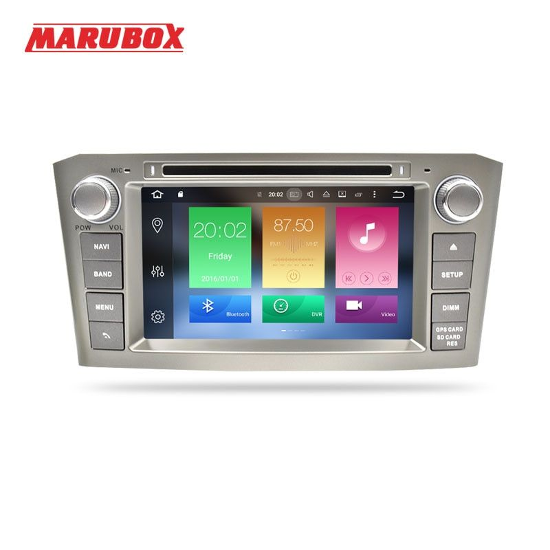 MARUBOX 2Din Android 8.0 Octa Core 4GB RAM 32GB ROM For TOYOTA AVENSIS T25 2006-2011 Car Stereo Radio GPS Navigation DVD Player