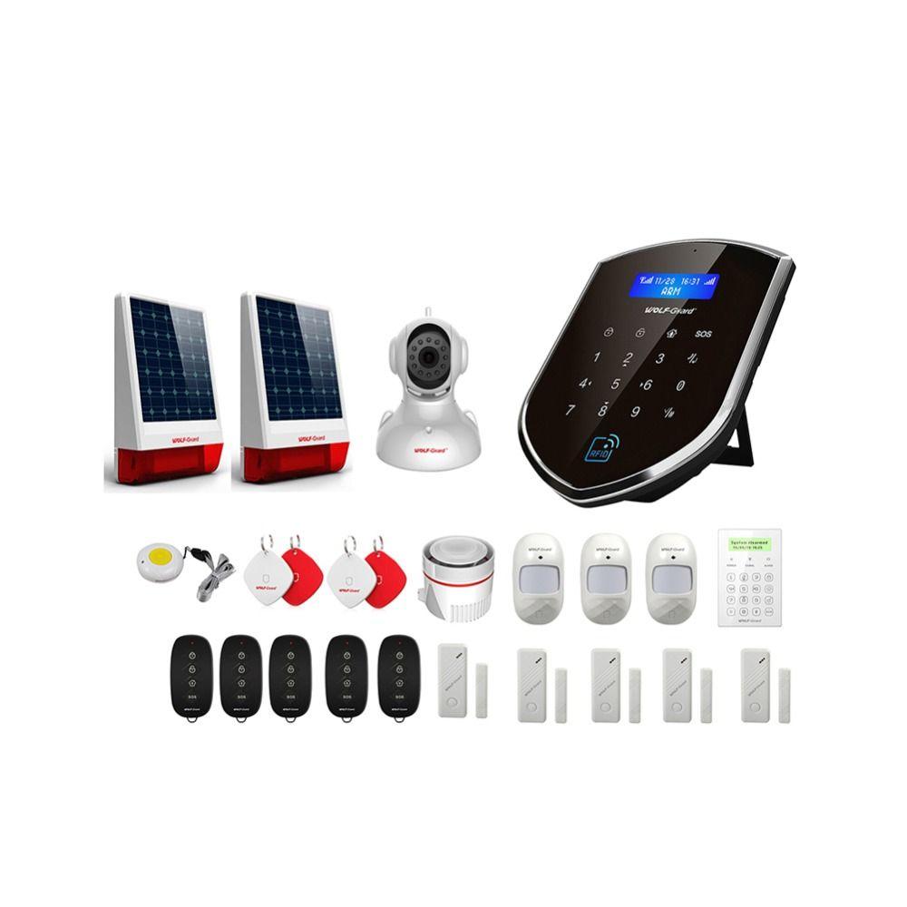 Wolf-Guard WM2GR GSM Wifi Wireless Home Security Alarm System DIY Kit APP Control Motion Detektor Sensor Einbrecher Alarm system