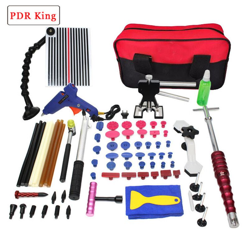 PDR Tools Kit Paintless Dent Repair Tool Set for Car body dent removal tools set Glue Puller Glue Gun hand Tools Bag tabs
