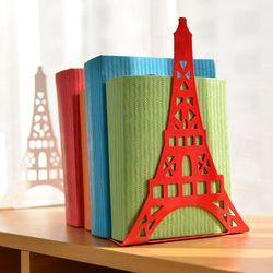 2 pcs/paire De Mode Tour Eiffel Conception Étagère Grande Serre-livres En Métal Bureau Titulaire Stand pour Livres Organisateur Cadeau Papeterie