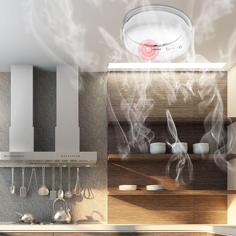 KERUI Sans Fil de Protection Incendie Détecteur de Fumée Portable Capteurs D'alarme Pour La Maison système d'alarme de sécurité Dans notre boutique