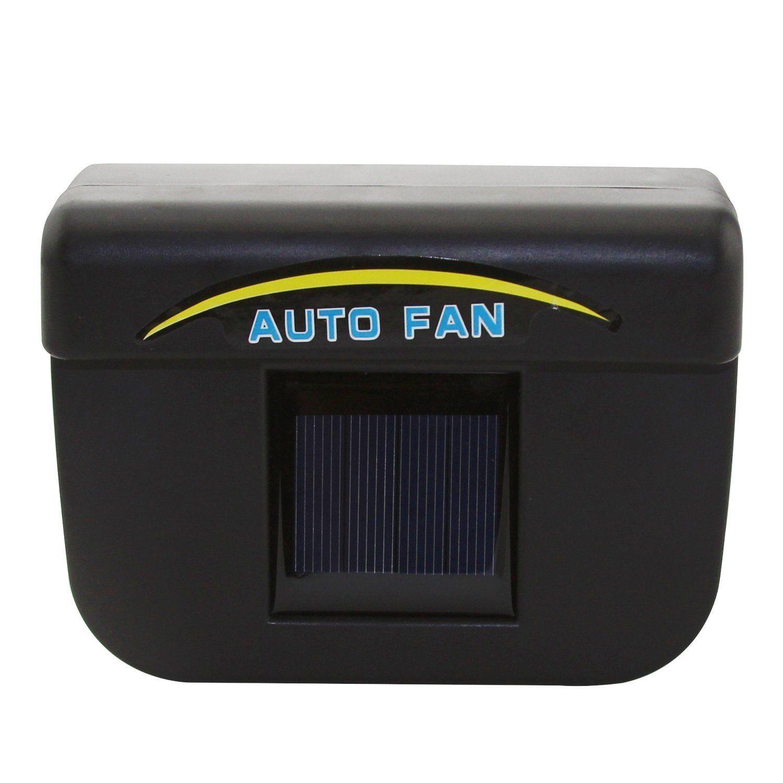 TOYL 1W Solar Powered Window Fan Ventilator Auto Cool Air Vent For Car Vehicle Black