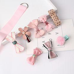 M L'MISME 1 Set = 8 pcs Multi-style Ruban Arc Fleur Épingles À Cheveux Barrettes Enfants Accessoires Mignon Bébé filles Chapeaux Cheveux Clip