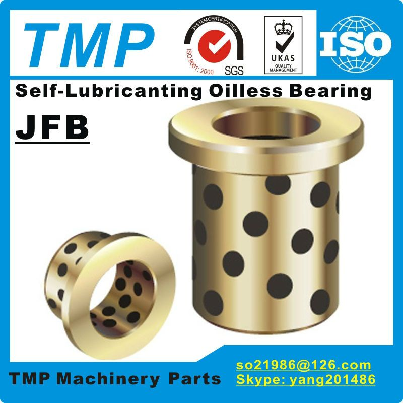 JFB2530 / 2530F (Size:25*35*30/45*5mm) Flanged Solid-Lubricanting Oilless Graphite Brass Bushing|Copper Bearing