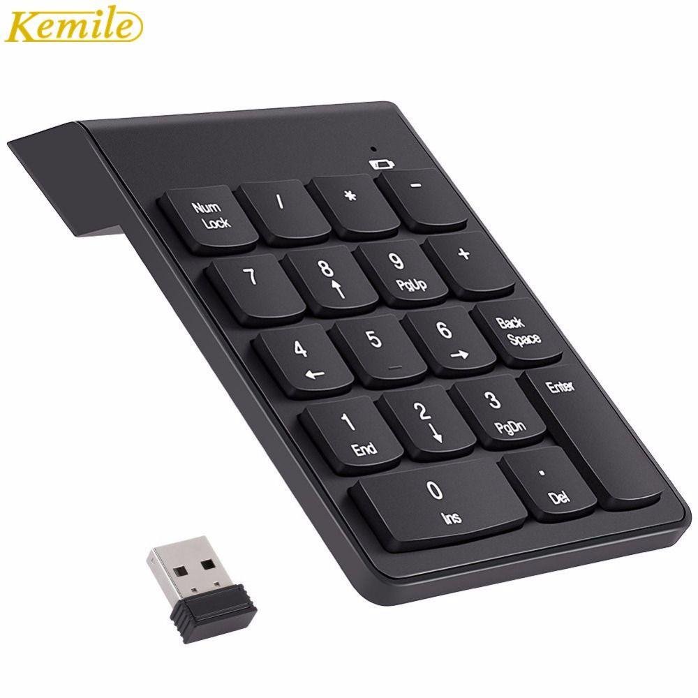 Kemile 2.4G Sans Fil USB Pavé numérique Mini Pavé Numérique 18 Touches Clavier Numérique pour iMac/MacBook Air/Pro ordinateur portable PC Portable De Bureau
