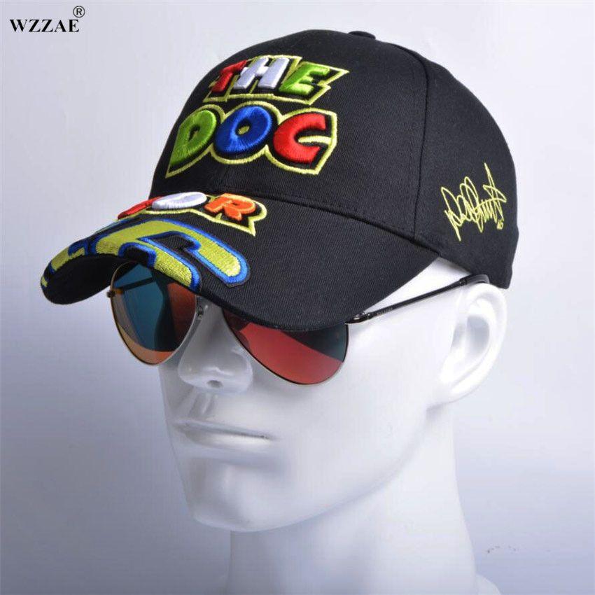 WZZAE Rossi VR 46 Embroidery Baseball Caps Hats For Men Motorcycle F1 MOTO GP VR46 Cap vrfortysix Snapback Gorras Casquette Bone