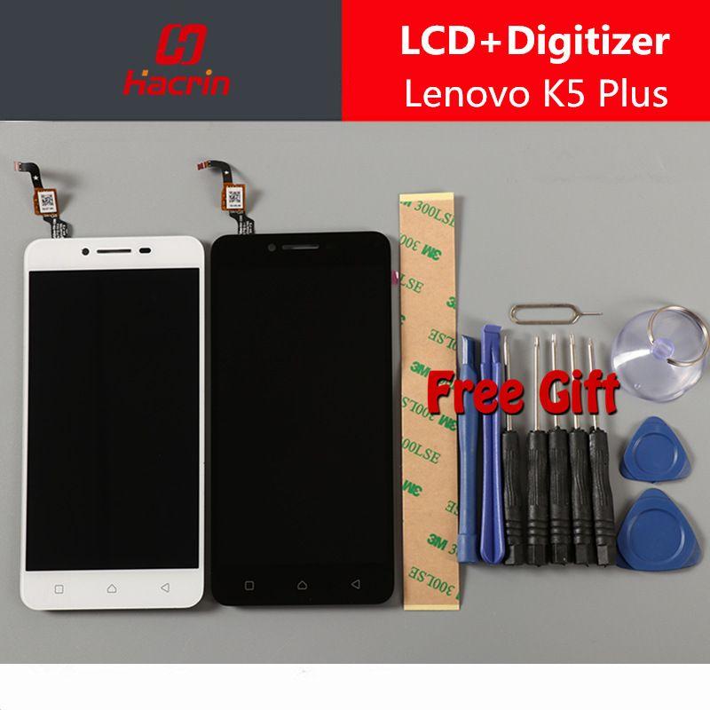 Pour Lenovo K5 Plus LCD Affichage à l'écran Tactile Digitizer Assemblée Remplacement panneau pour Lenovo A6020 A46 5.0 pouces