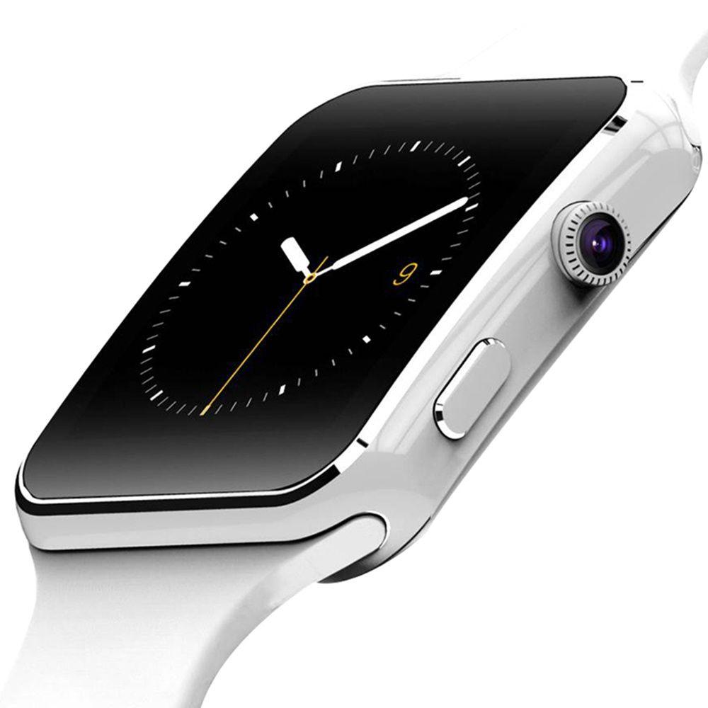X6 montre intelligente prise en charge SIM TF carte h caméra Smartwatch Bluetooth cadran/avec écran tactile de l'appareil photo pour iPhone Xiaomi Android IOS