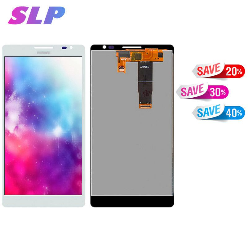 Skylarpu 6.1 inch white Complete LCD for Huawei Ascend Mate MT1-U06 Cell Phone Full LCD display Touch screen Free Shipping