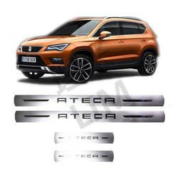 4 unids/set adecuado para SEAT ATECA FR de Perience Acero inoxidable Scuff Plate Door Sill Cover Trim Car Styling accesorios
