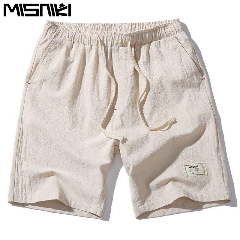 MISNIKI 2017 Heißer Mode Für Männer Kurze Hosen Sommer Leinen Männer Shorts (Asiatische Größe)
