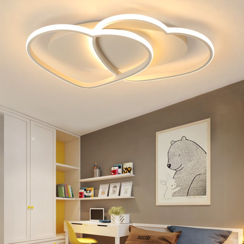 LICAN Modern Ceiling Lights LED Lamp for Living room Bedroom lamparas de techo Heart shape Avize Lustre 110V 220V Ceiling Lamp