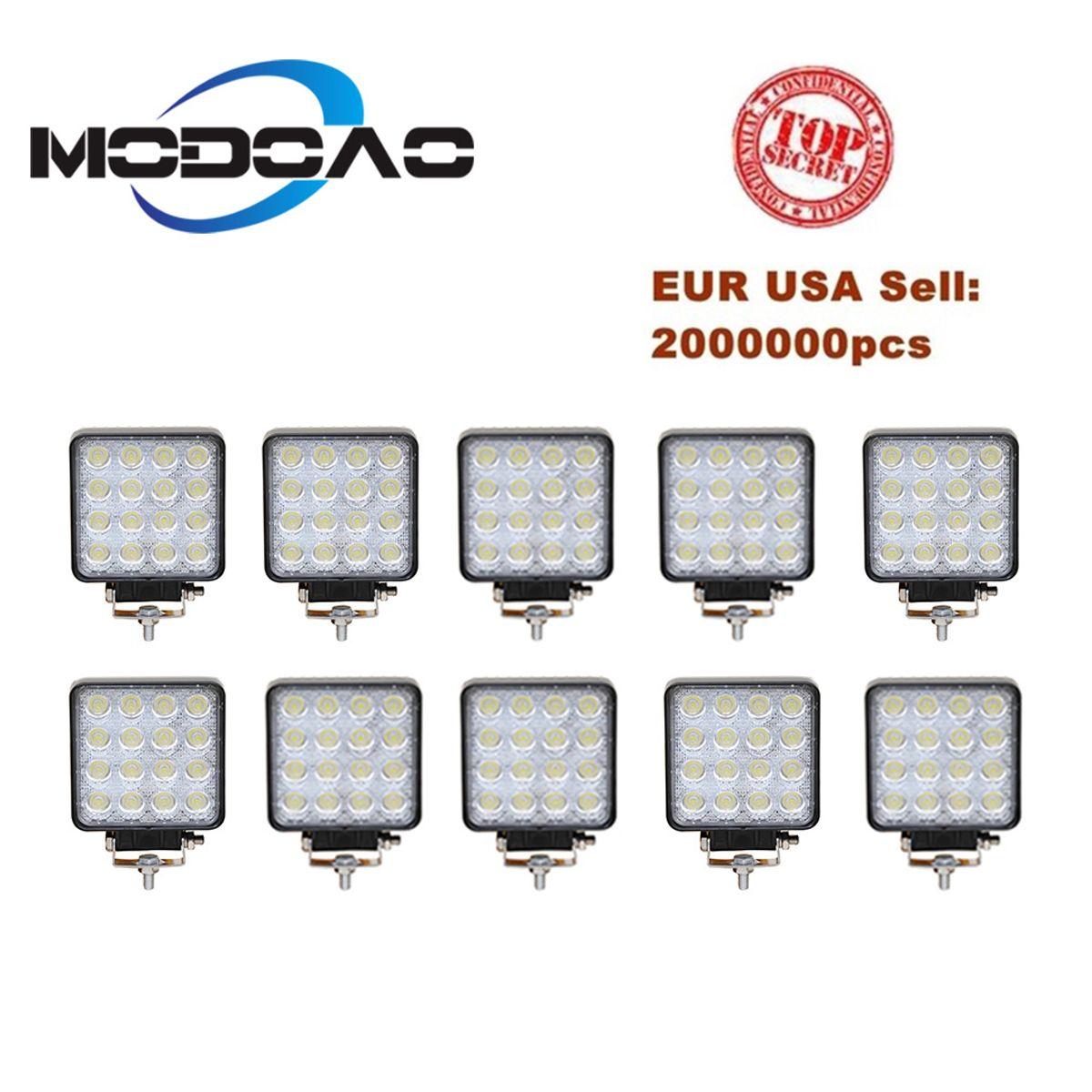 10 stücke Vehicel Scheinwerfer 16 LEDs Cool White Licht Bar 12 V 24 V 4 inch Fahrzeug Arbeit Licht LED lkw Für Offroad SUV Jeep ATV UAZ