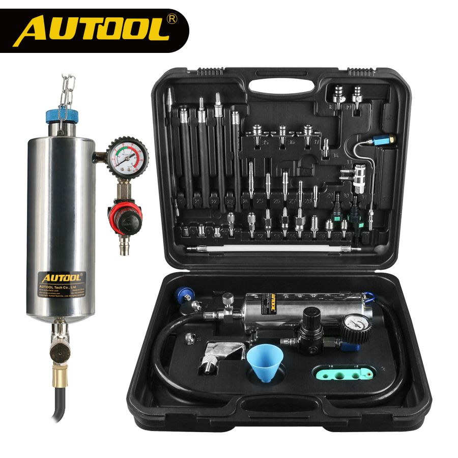 AUTOOL C100 Car Fuel Injector Cleaning Cleaner Machine Universal Automotive Gasoline Auto Non-Dismantle For Petrol EFI Throttle