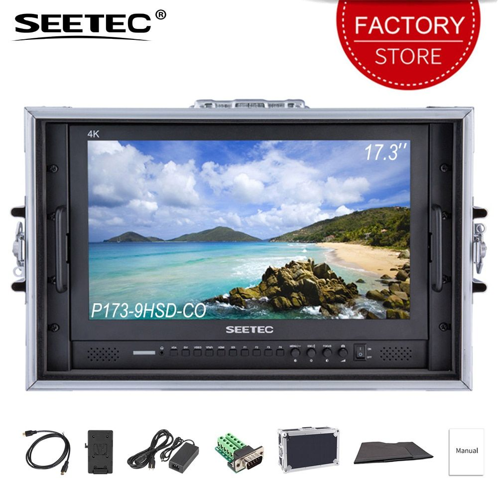 SEETEC P173-9HSD-CO 4 K HDMI 3G SDI Tragen auf Broadcast Direktor Monitor Full HD 1920x1080 Aluminium-Design mit YPbPr Video Audio