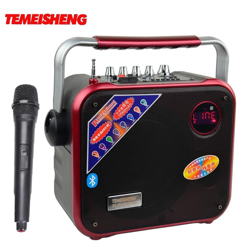 30W High Power Bluetooth Speaker Portable Subwoofer Play TF Card And USB Wireless Microphone And FM Radio Can Add DC12V Column